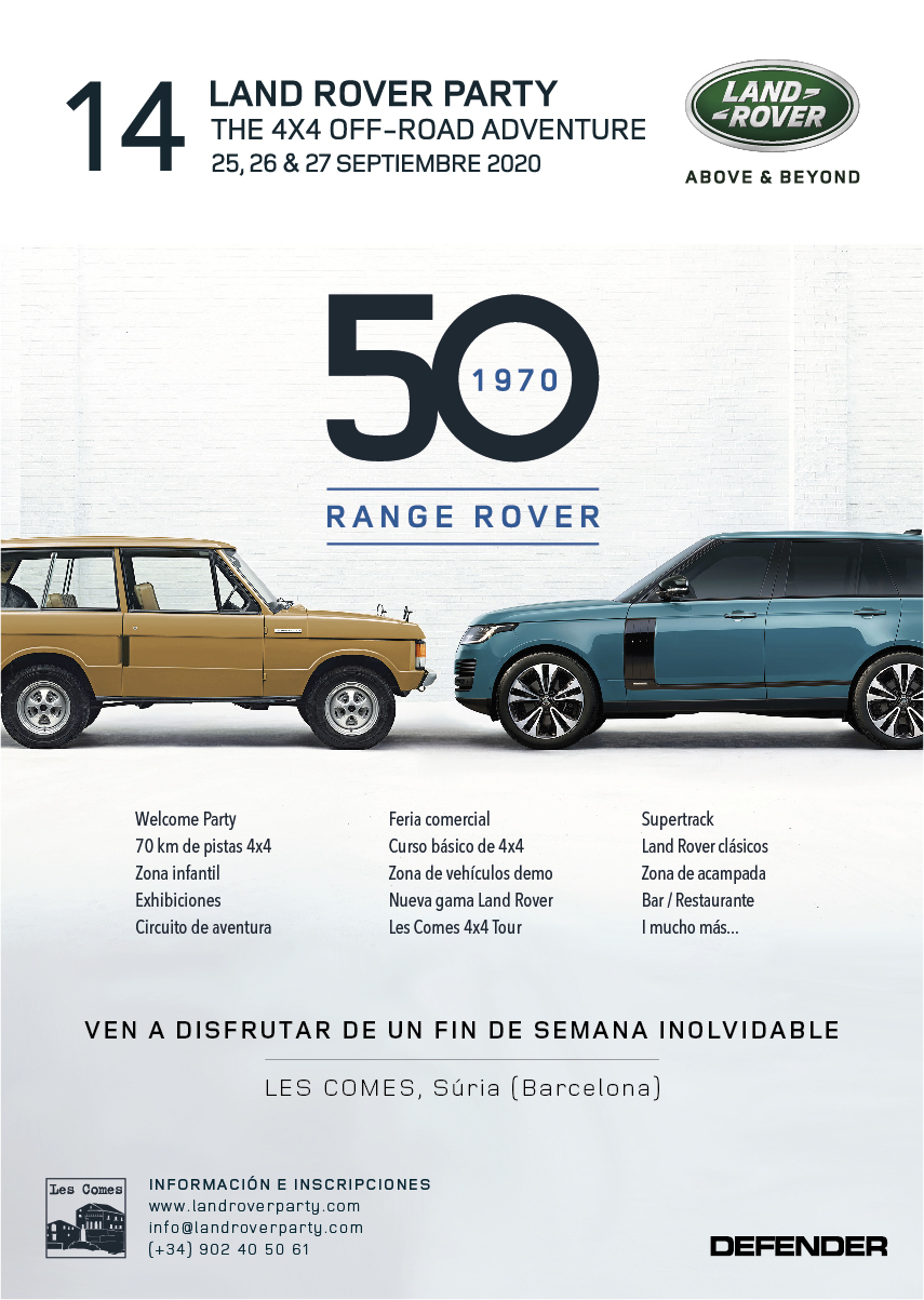Poster Land Rover Party 2020